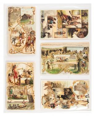Large collection of Victorian trade cards
