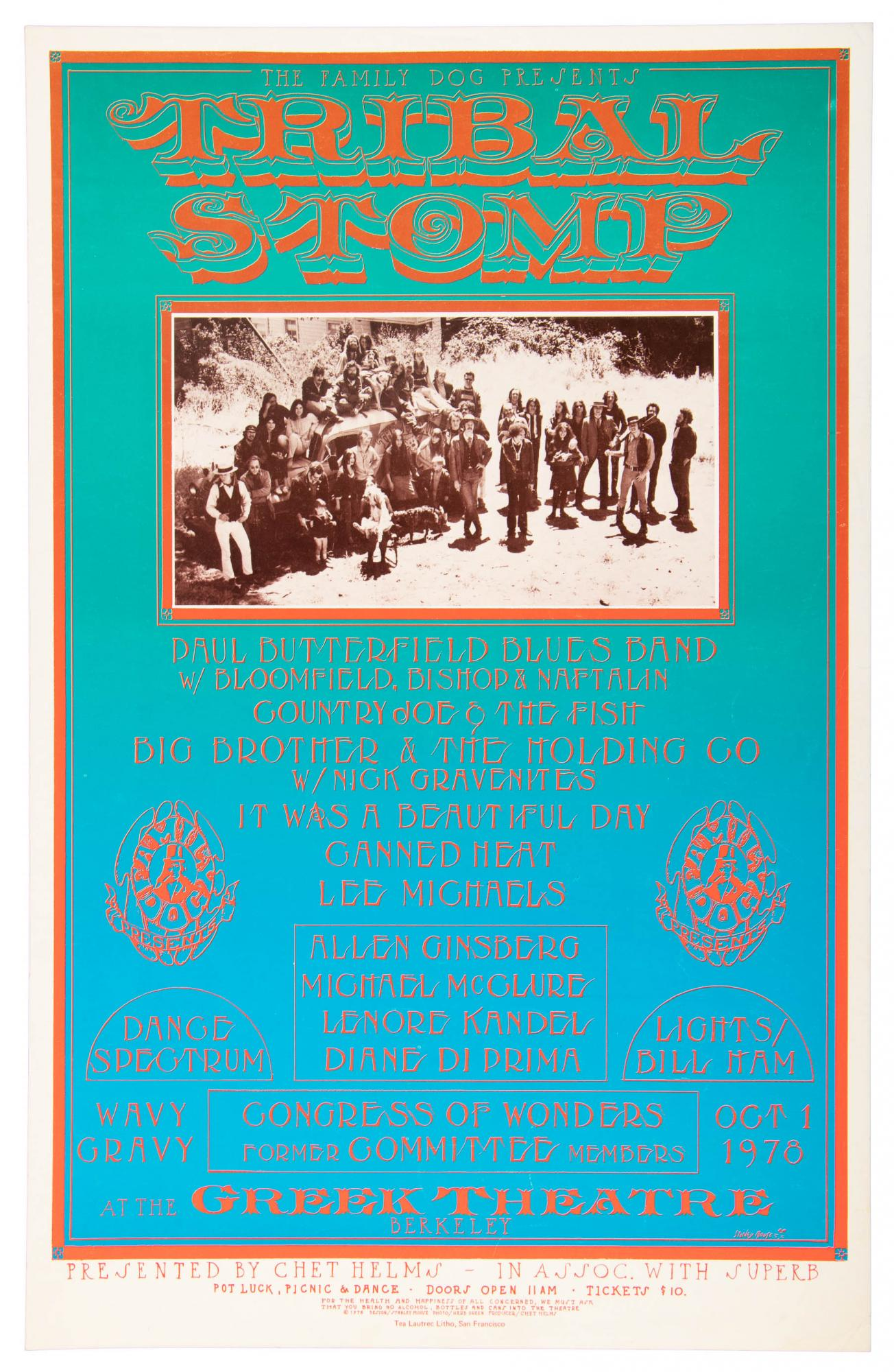 Tribal Stomp event poster, 1978