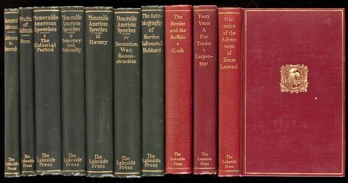 First 36 volumes of the Lakeside Classics