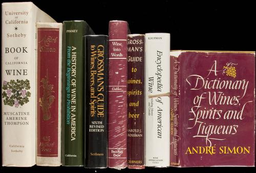 Six books on wine and two books on books about wine