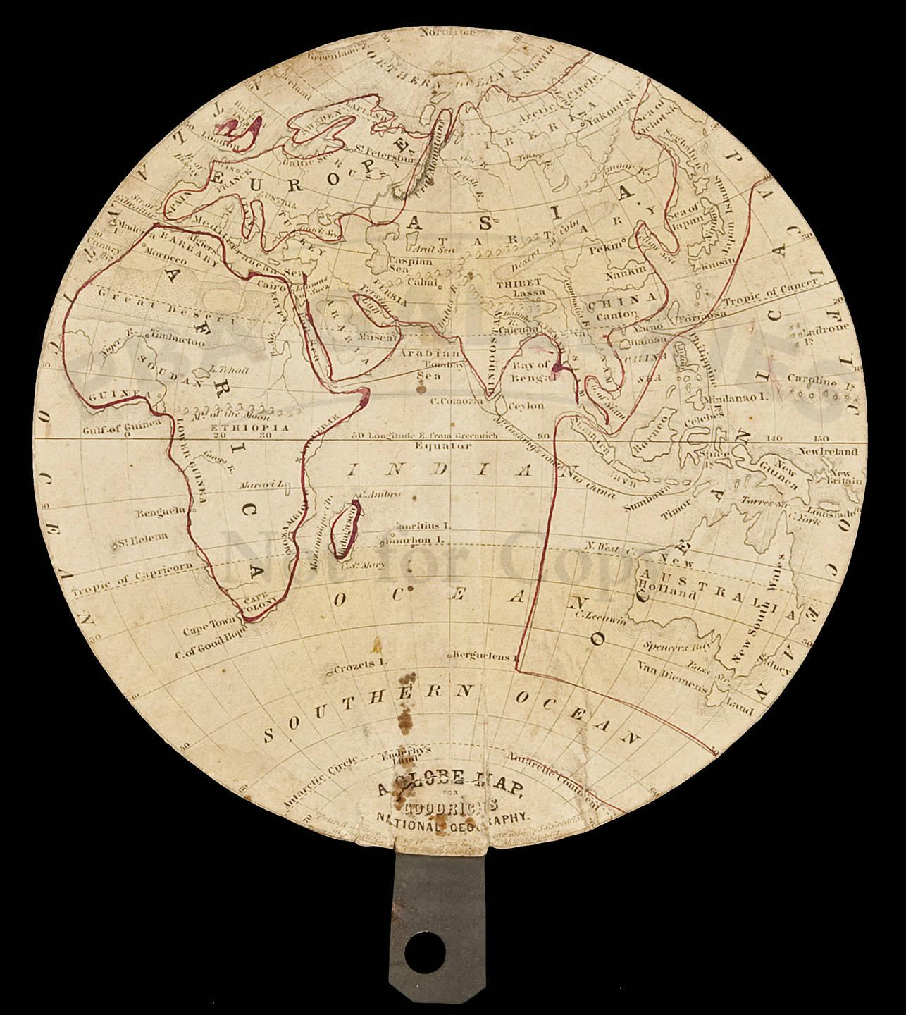 A globe map for goodrichs national geography price estimate 150 a globe map for goodrichs national geography price estimate 150 250 gumiabroncs Image collections