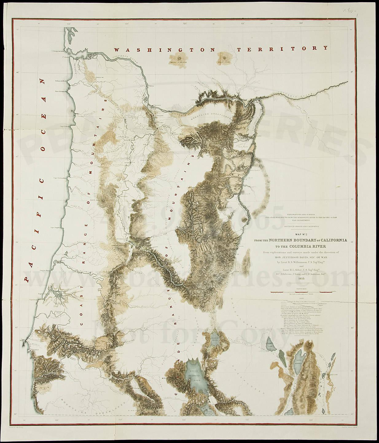 Routes In Oregon And California Map No 2 From The Northern
