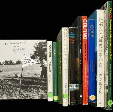 22 titles about golf - mostly modern books on the history of the game