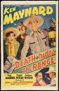 One sheet movie poster for Death Rides the Range