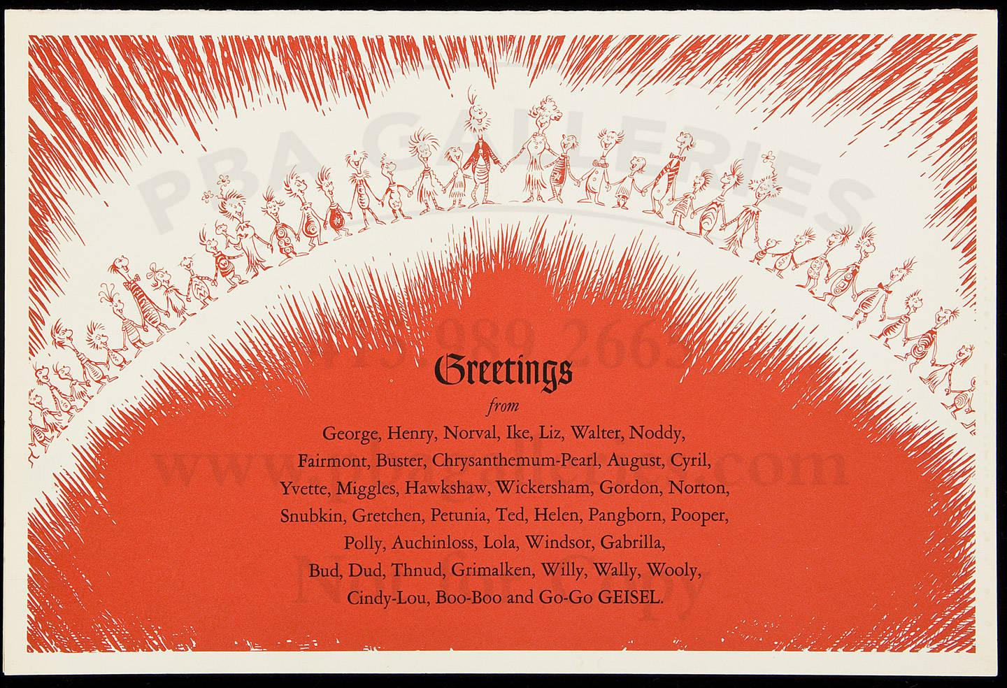 Oversized Greeting Card From Theodore Geisel And Friends Price