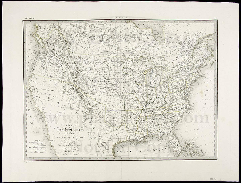 Carte Canada Uni.Carte Des Etats Unis D Amerique Du Canada Du Nouveau Brunswick Et