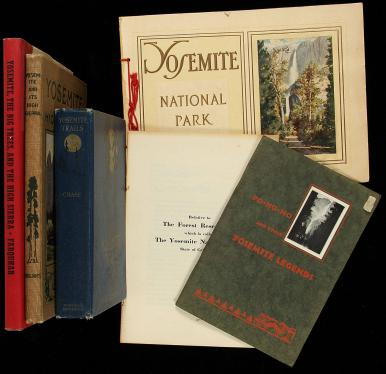 Collection of books about Yosemite National Park