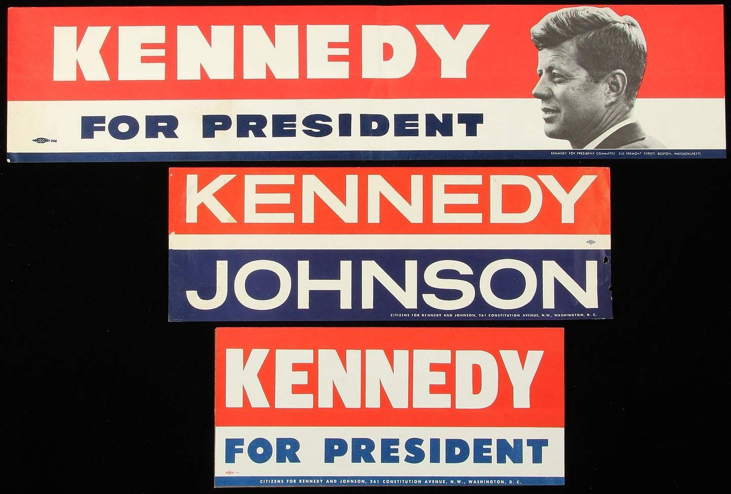 Kennedy for president bumper stickers and decal please wait click image to enlarge