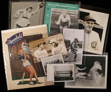 Lot of 10 Womens Baseball & Softball Photographs & Magazines