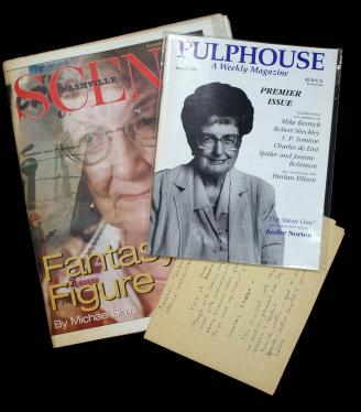 Large collection of Andre Norton ephemera material