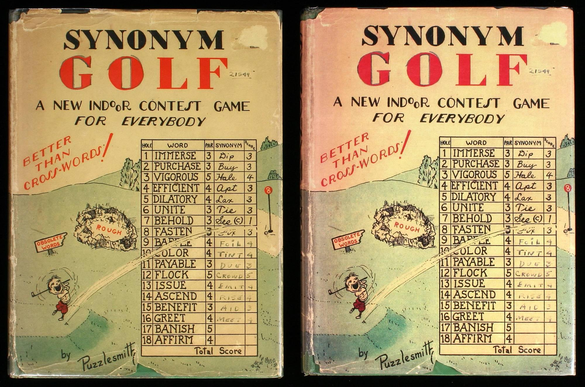 Synonym Golf: A New Indoor Game - 2 copies - Price Estimate