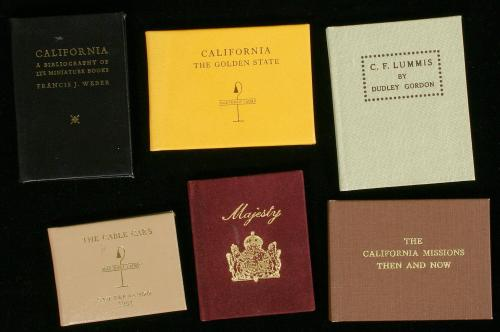 Lot of six miniature books