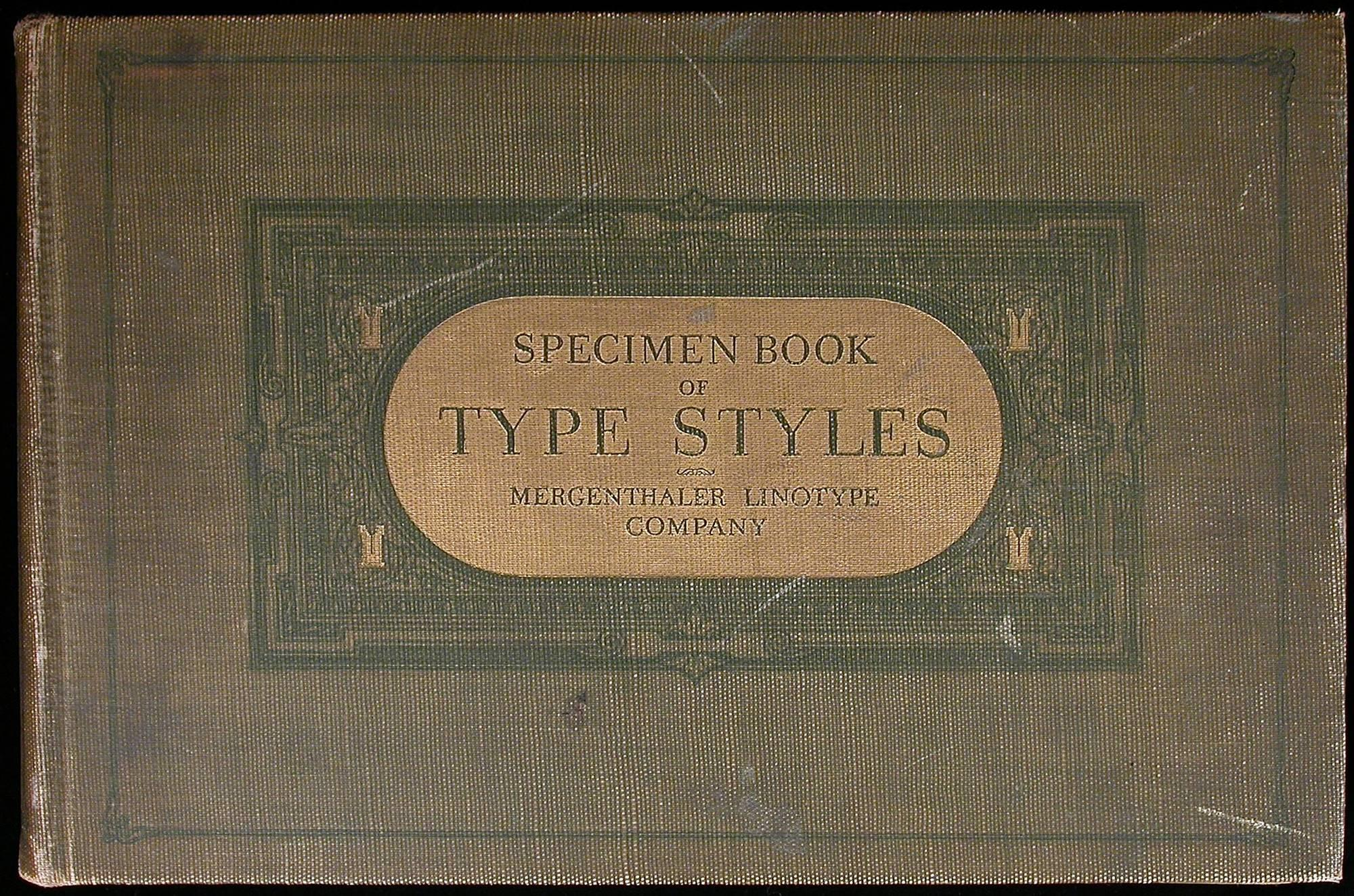 Specimen Book of Type Styles - Price Estimate: $200 - $300